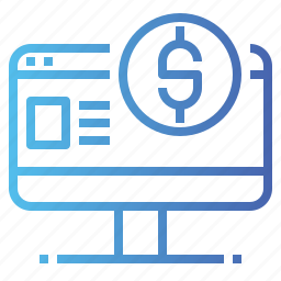 banking, browser, business, internet, payment icon