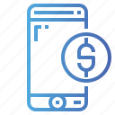 banking, business, currency, mobile, phone, smartphone icon