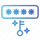 code, key, passkey, password, pin, protection, security icon