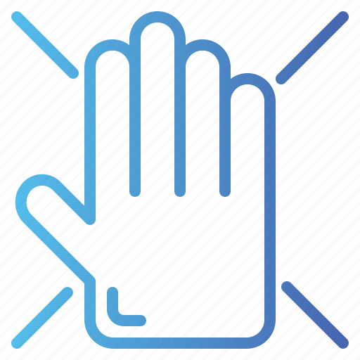 gesture, hand, prohibited, prohibition, stop icon