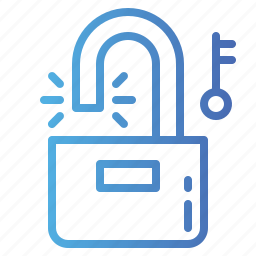 padlock, secure, security, unlocked icon