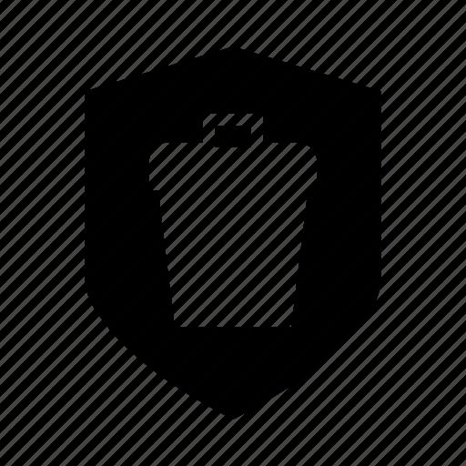 delete, protection, security, sheild, trash icon
