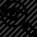 crime, eye, lock, magnifier, magnifier eye, review, search icon