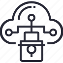 cloud, computing, privacy, protection, safety, secure, system icon