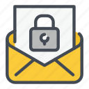 email, lock, mail, padlock, password, protection, security icon