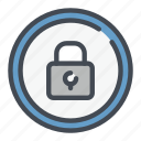 circle, lock, padlock, password, protection, security icon