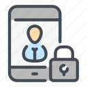 lock, mobile, padlock, password, phone, protection, security icon