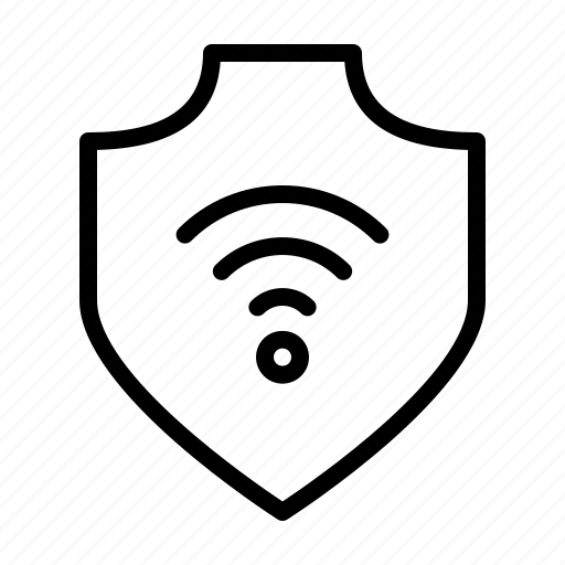 protection, safety, secure, security, shield, wifi icon