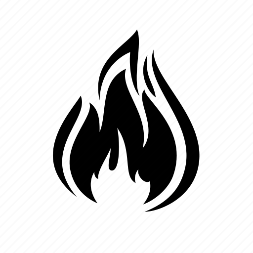 Black fire icon png - Pixsector  |Black Flame Icon