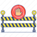 road, barrier, road barricade, obstacle, road barrier, safety barrier