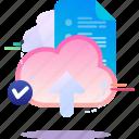cloud, data, document, file, upload