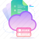 cloud, data, database, server