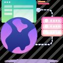 data, database, hosting, server