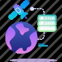 data, database, satellite, world