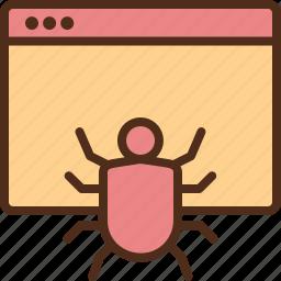 bug, internet, malware, security, virus icon