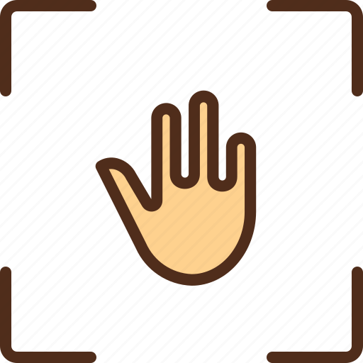 hand, recognition, scan, security, sensor icon