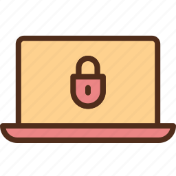 laptop, malware, protection, security icon