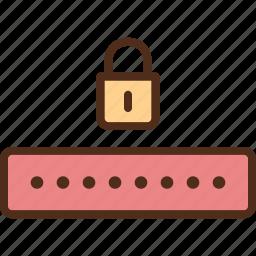 encryption, password, protection, security icon