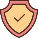 check, protection, secure, security, shield icon