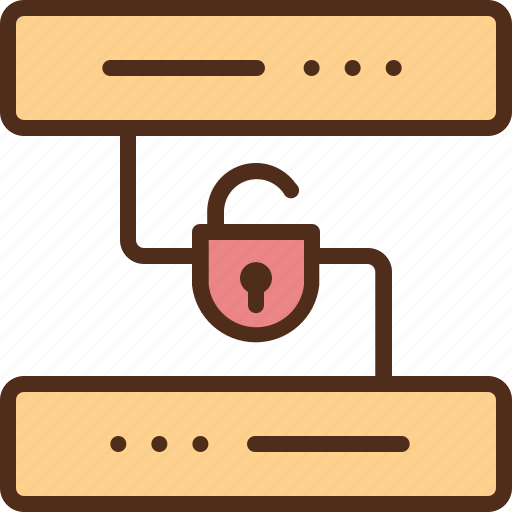 database, internet, protection, security, server icon