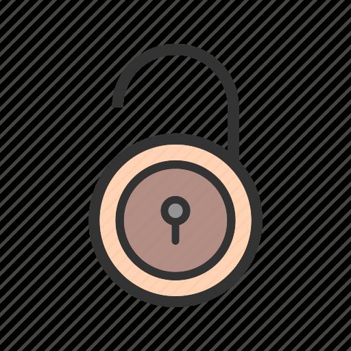 lock, open, padlock, protection, security, unlock icon