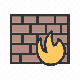 computer, firewall, internet, protection, security, technology icon