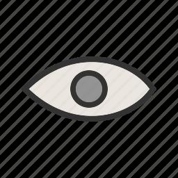 bright, eye, human, light, view, vision icon