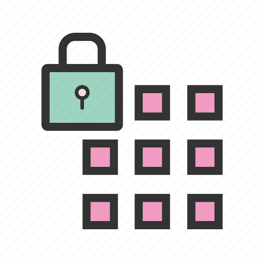 lock, mobile, passcode, phone, screen, security, smartphone icon