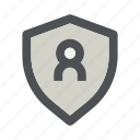 password, people, profile, secure, security, shield, user