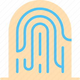 fingerprint, scan, security, sensor icon