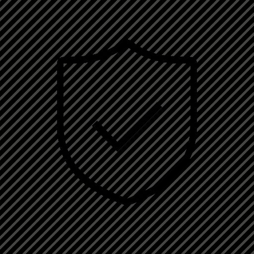 check, checkmark, okay, protected, security, shield icon