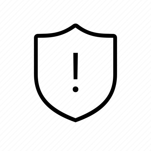attention, security, shield, warning icon