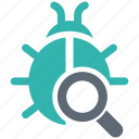 bug, search, security, shield, spyware icon