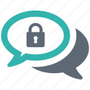 chat, secure, security, shield, spyware icon