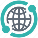 connect, global, security, shield, spyware icon