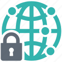 network, protection, security, shield, spyware icon