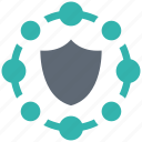 network, secure, security, shield, spyware icon