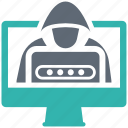 phishing, security, shield, spyware icon