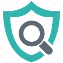 scan, security, shield, spyware icon