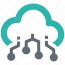 cloud, connection, digital, network, server, storage icon