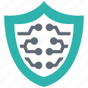 digital, lock, protection, secure, security, shield icon