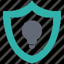 idea, lamp, light, lock, protect, secure, security icon