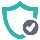 check, lock, protect, protection, secure, security, shield icon