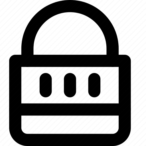 closed, combination, lock, protection, secure, security icon