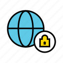 global security, locked website, need password, protected website, web protection, web security icon