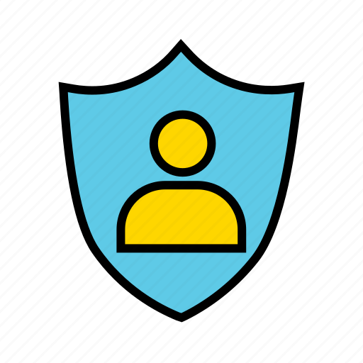 protected profile, protected profilephoto, protected user account, secured profile, secured user account icon