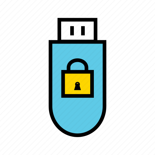 locked pendrive, password protected, pendrive protected, private, secured pendrive, usb icon