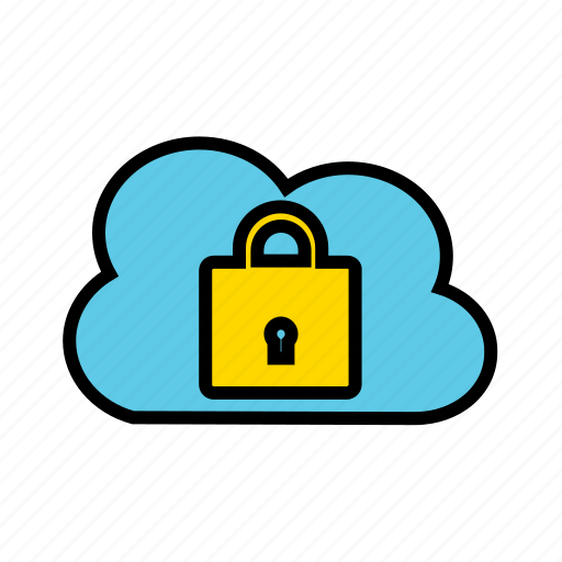 cloud security, protected services, secured services, security as service, web security icon