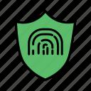 biometrics, cyber security, fingerprint lock, fingerprint protected, safety, scanner icon