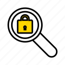 lock, protection, safe, secure search, security icon